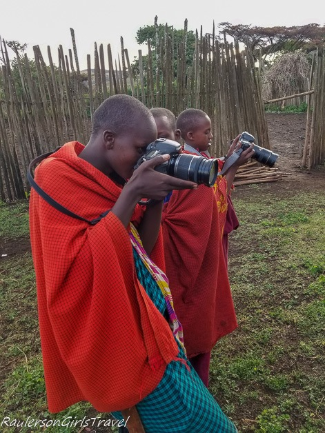 Teaching the older kids how to use a digital camera