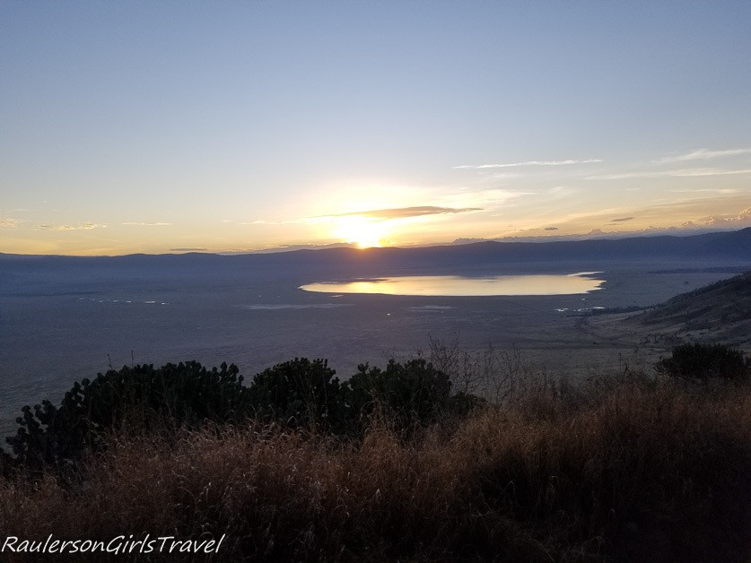 Sunrise in Ngorongoro Crater