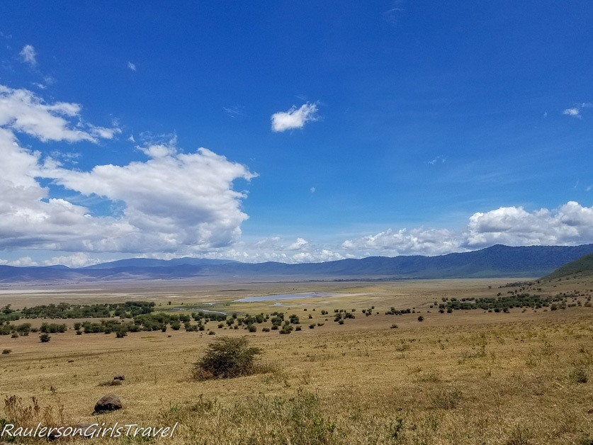 View inside of Ngorongoro Crater