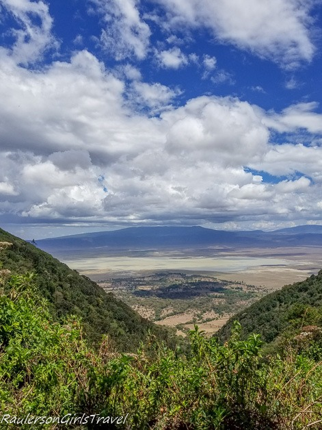View of Ngorongoro Crater on the way out