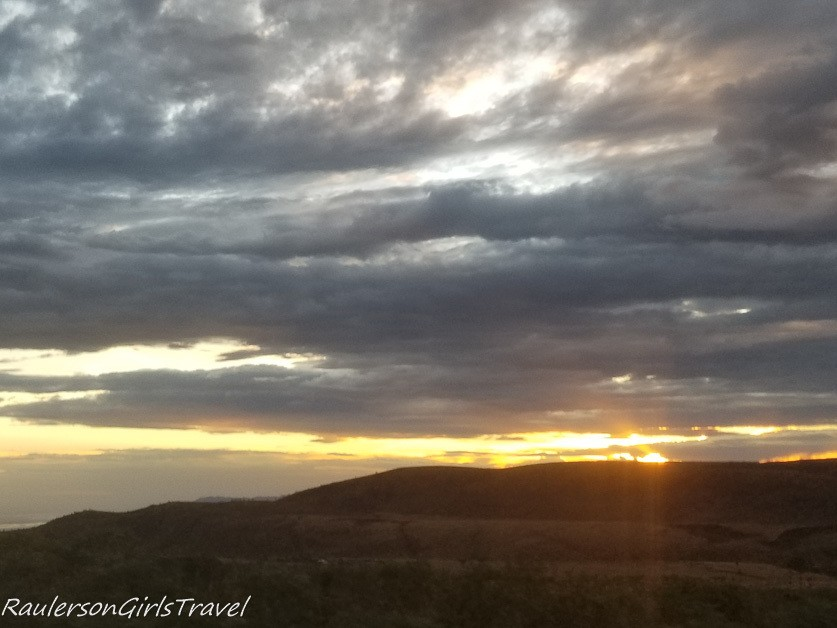 Sunrise over the Ngorongoro Crater