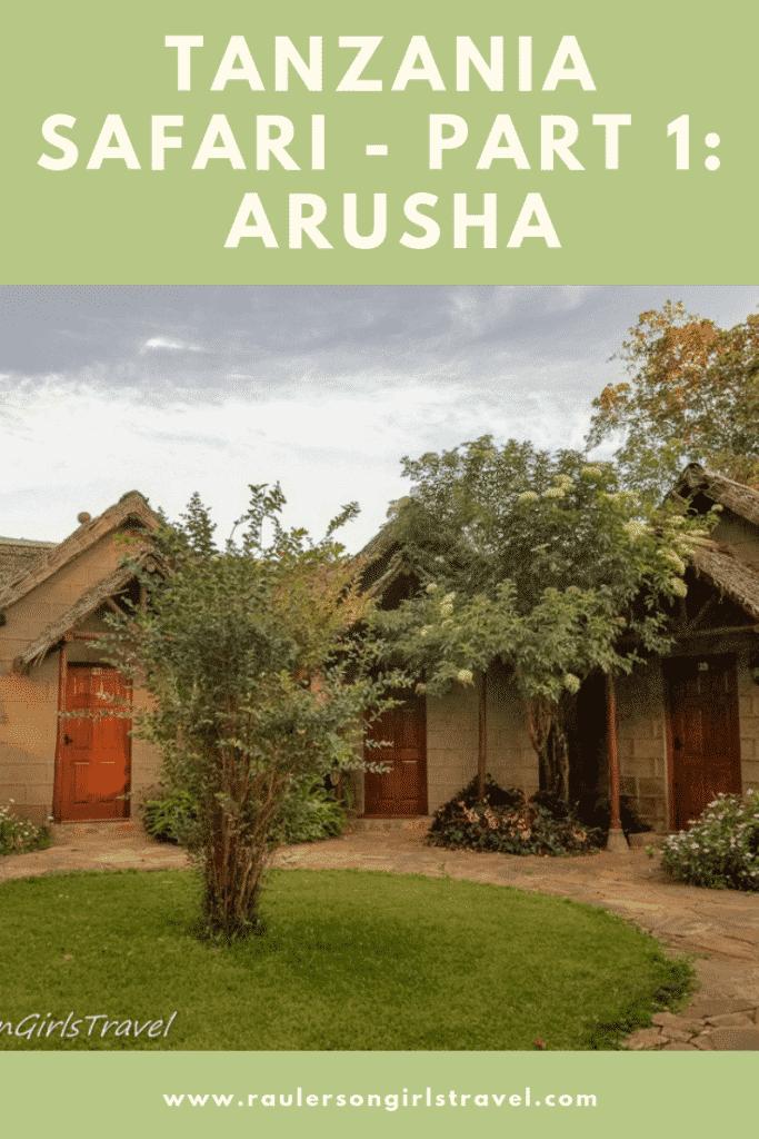 Tanzania Safari Arusha Pinterest Pin
