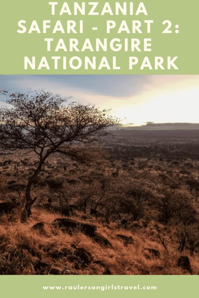 Tarangire National Park Pinterest Pin