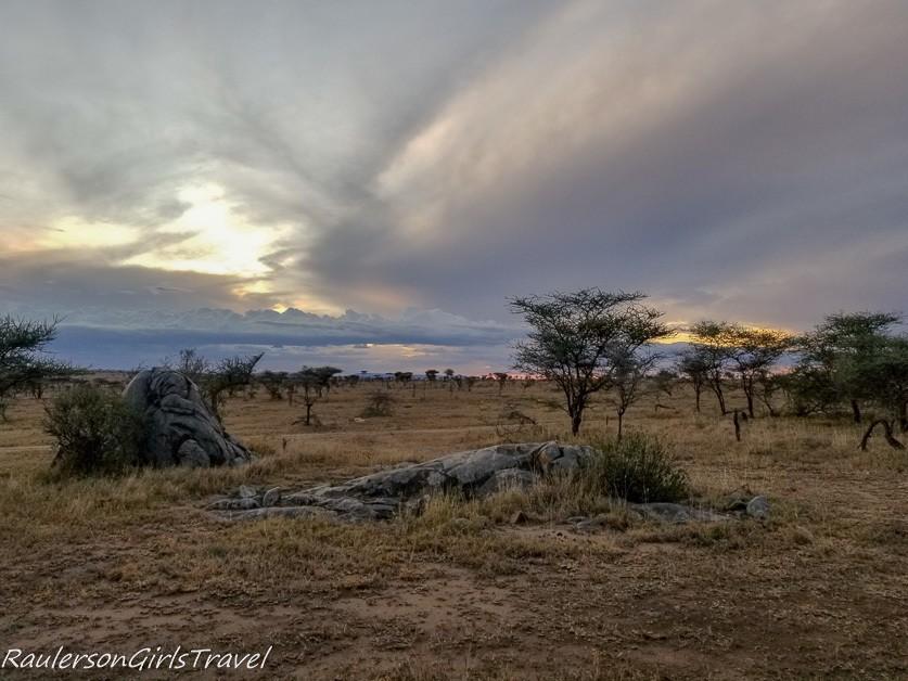 Serengeti View from Lemala Nanyukie Tent Deck