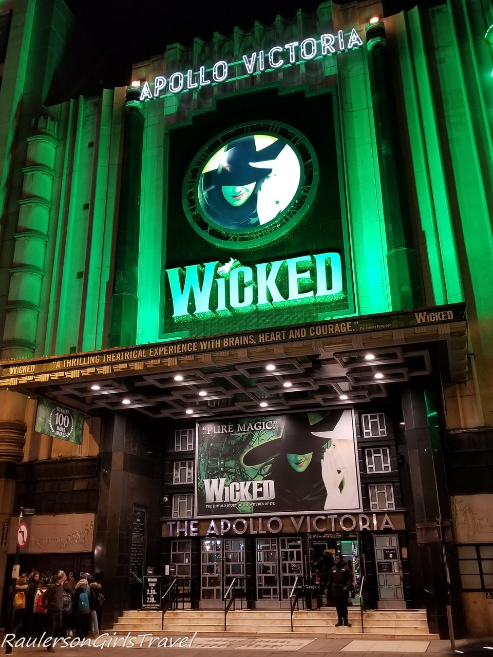 Wicked the Musical at the Apollo Theater in London