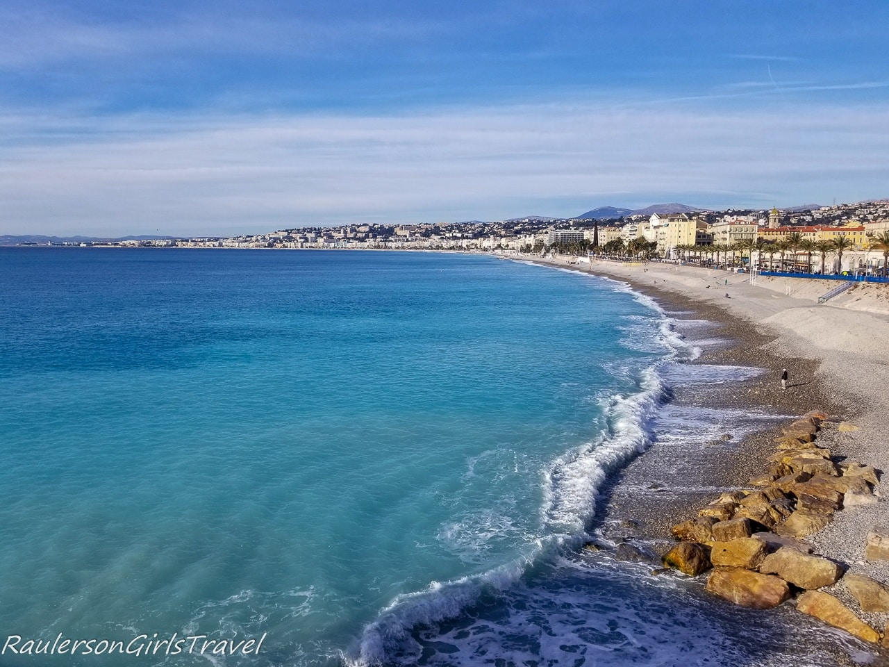 View of beach in Nice
