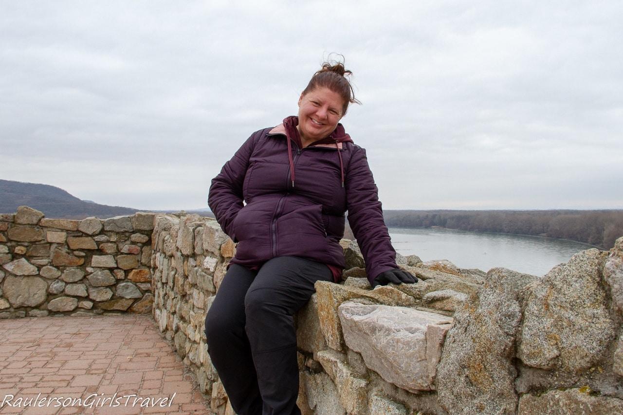 Heather on the Devin Castle ruin walls