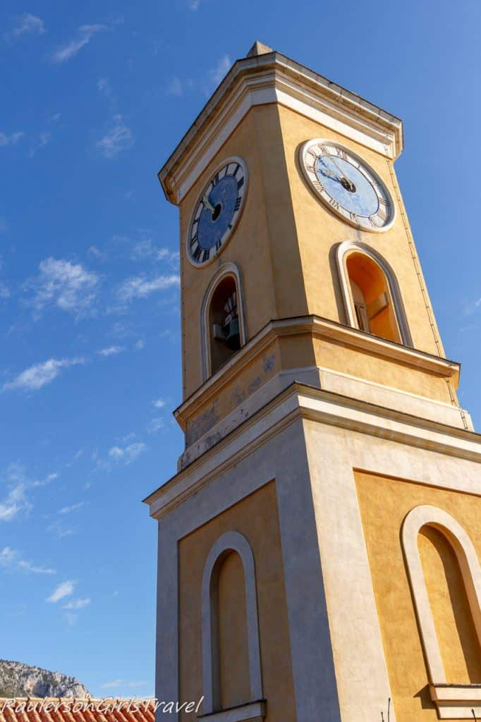 the church of Èze Village is a neo-classical eighteenth century building, is dedicated to Our Lady of the Assumption
