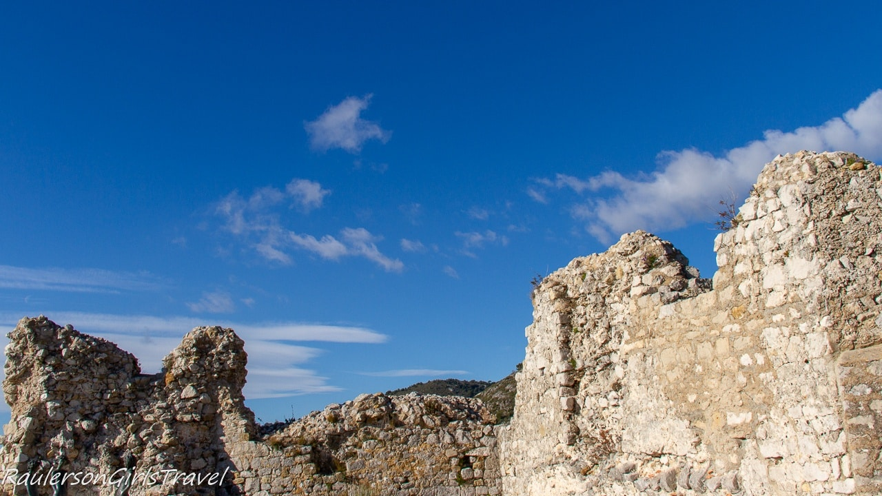 12th Century castle ruins in Èze
