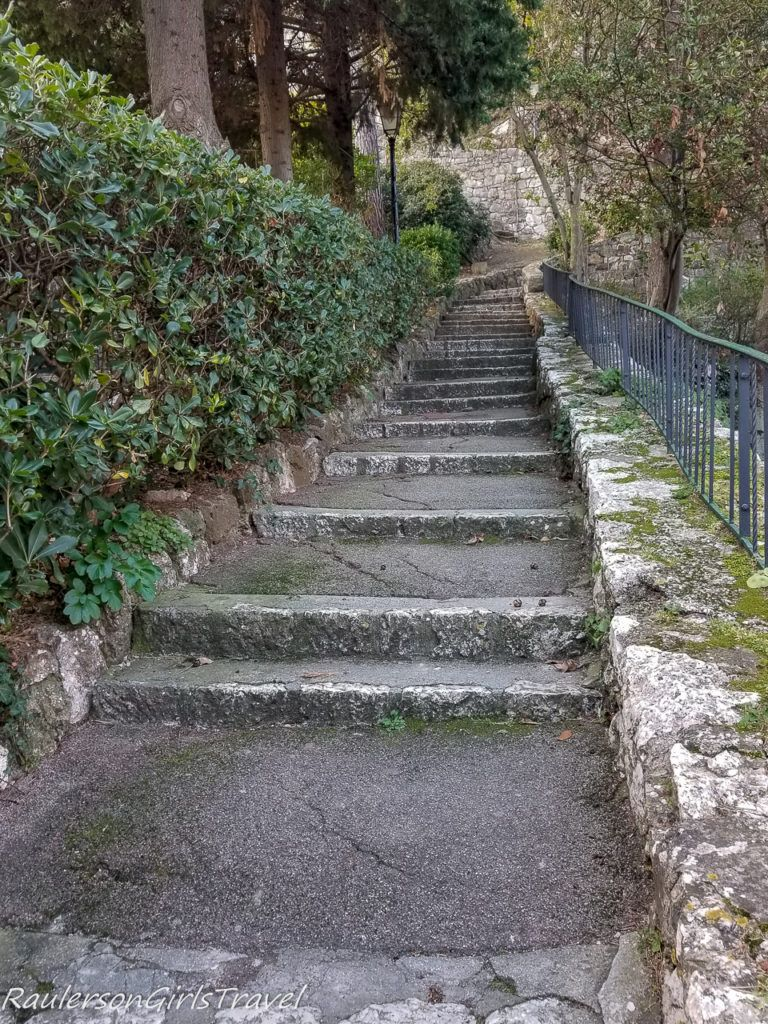 steep steps in Èze Village