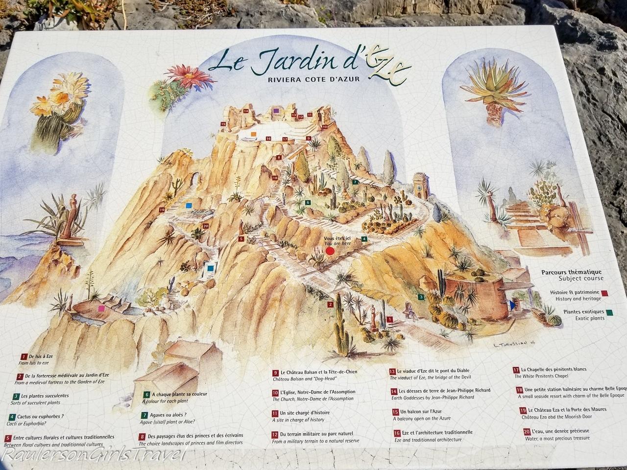 Le Jardin d'Èze map