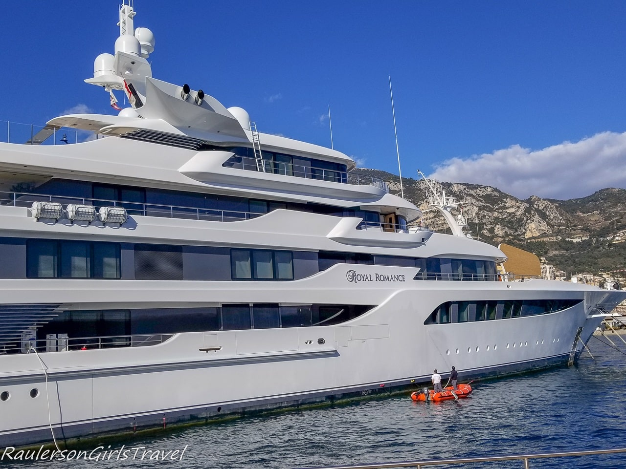 Cleaning a yacht in Monte Carlo