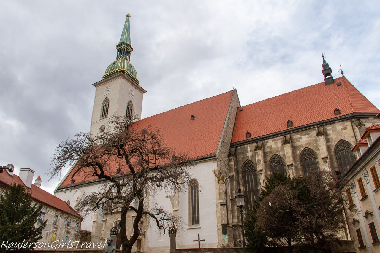 Side view of St. Martins Cathedral