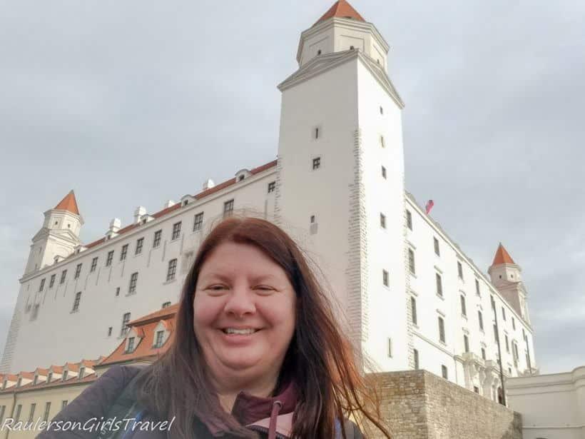 Selfie in front of Bratislava Castle