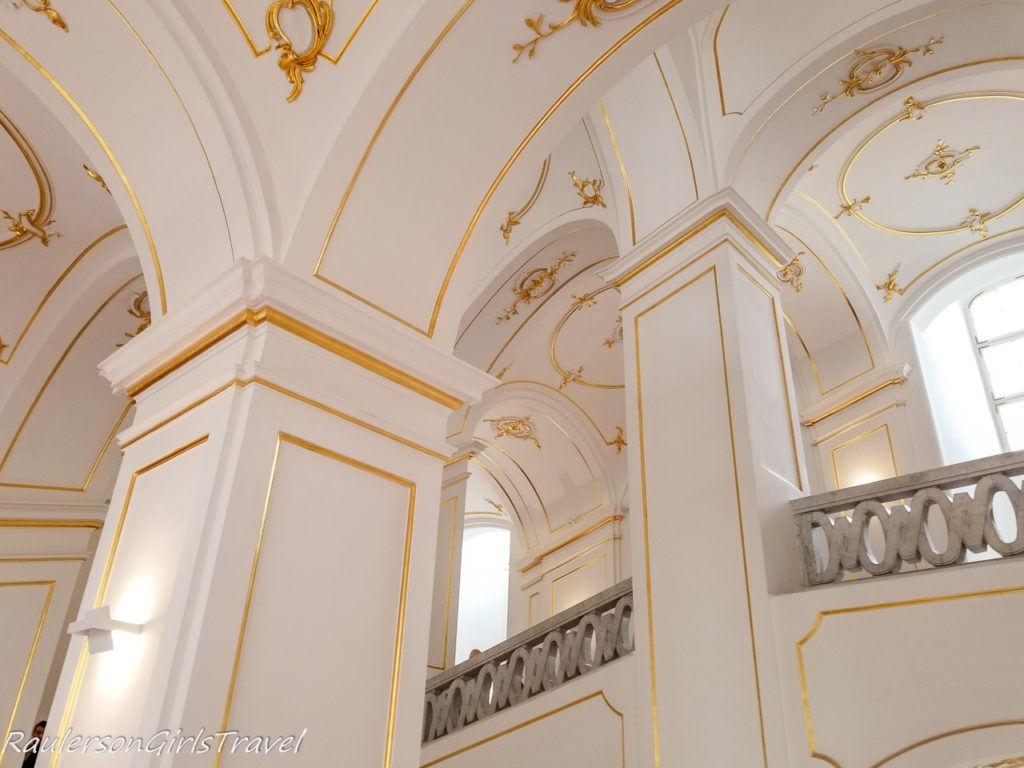Beautiful ceiling in Bratislava Castle