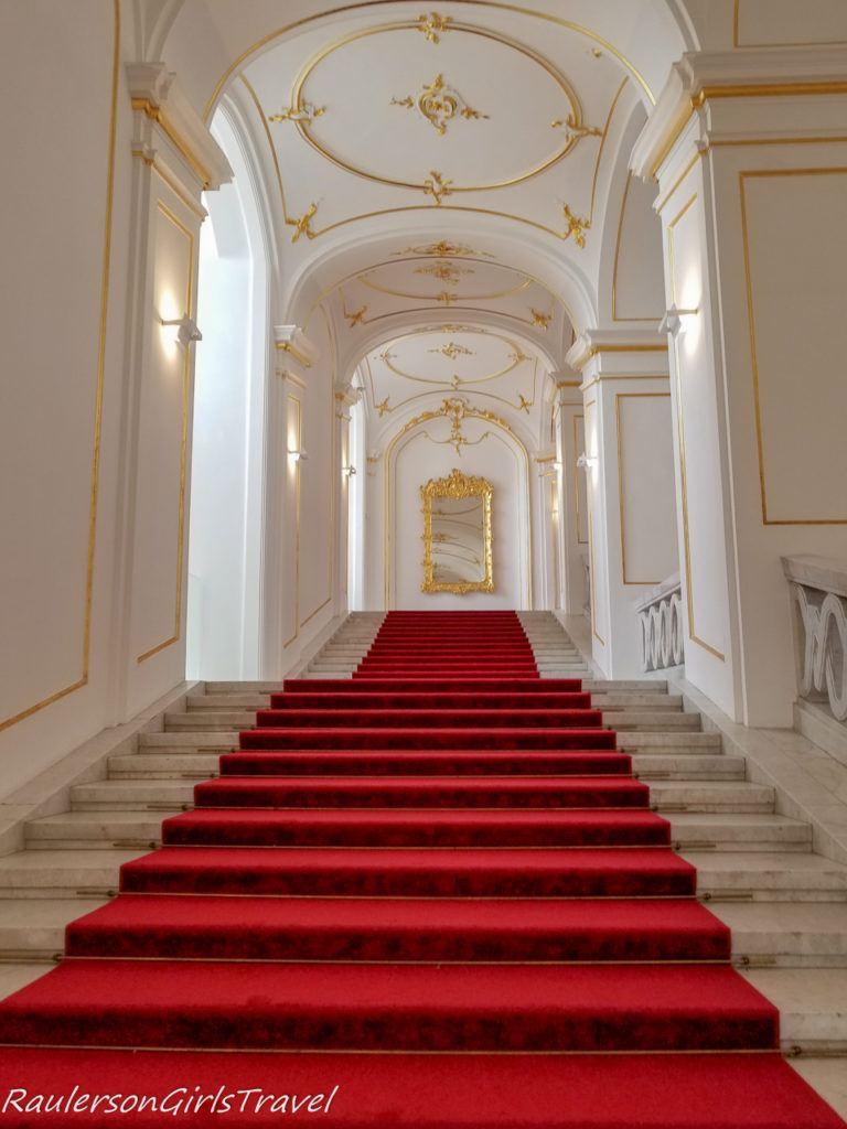 Empty staircase in Bratislava Castle