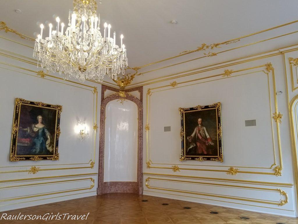 Chandelier in Bratislava Castle