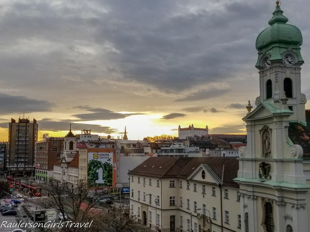View of Bratislava from Hostel Blues
