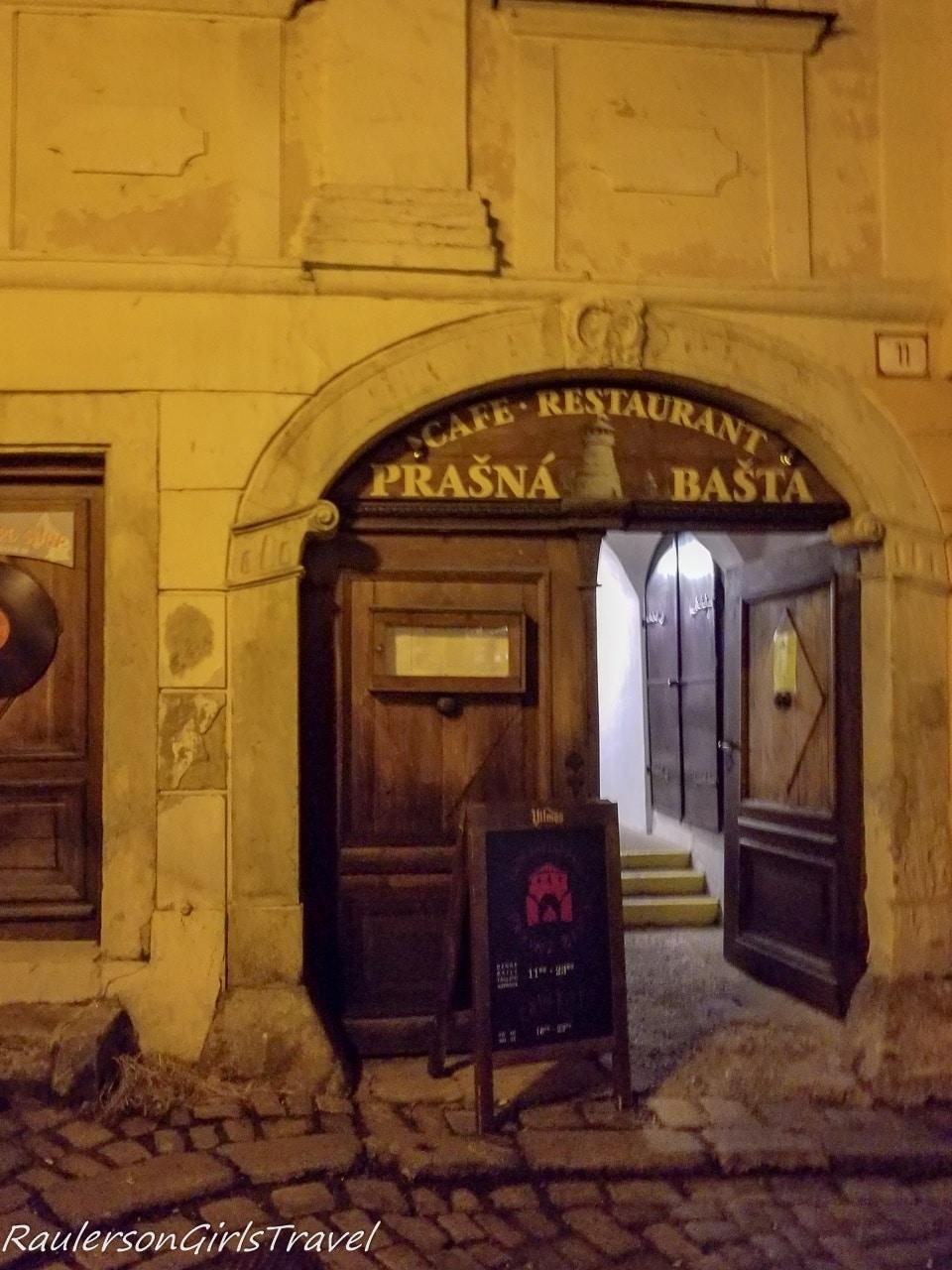 Prašná Bašta restaurant