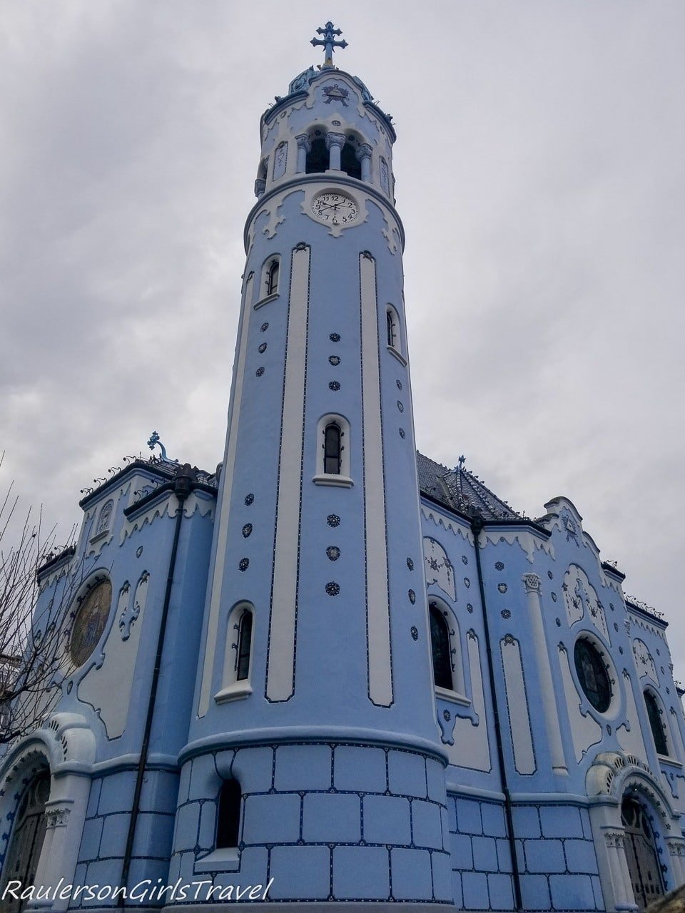 Front view of Blue Church