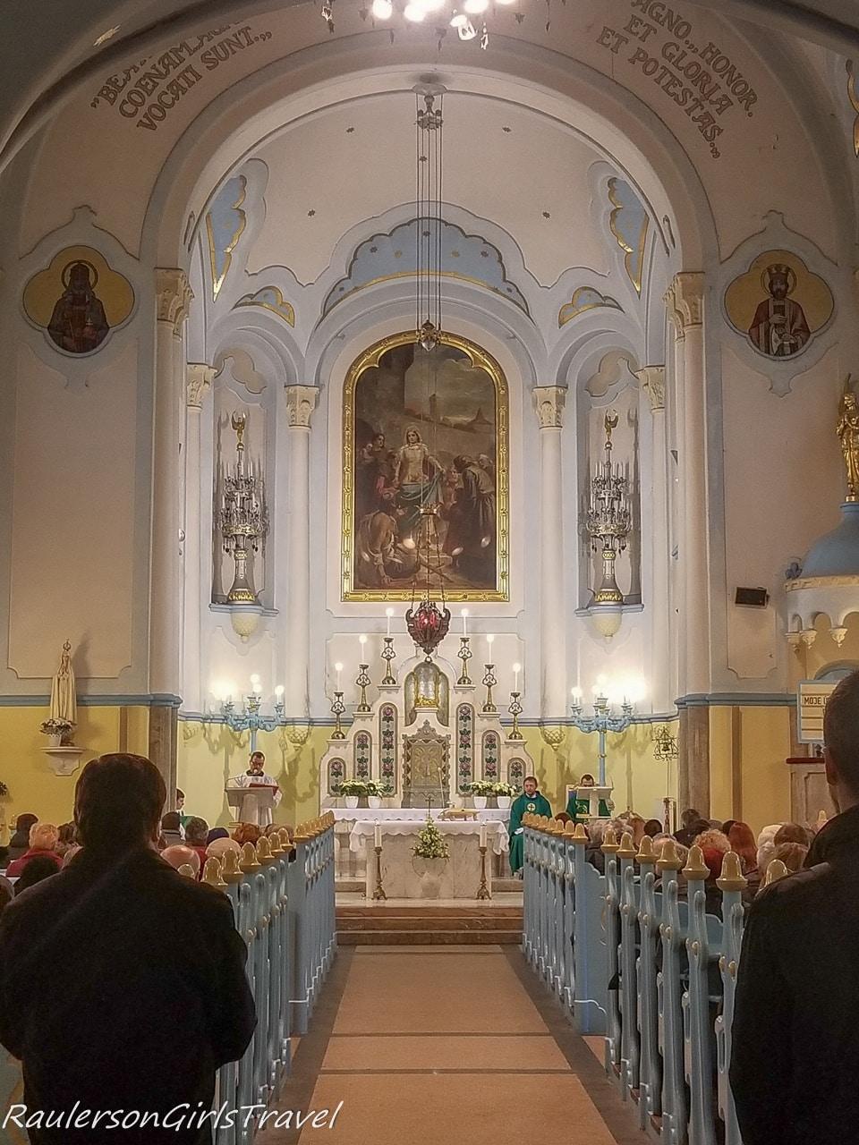 Inside the Blue Church