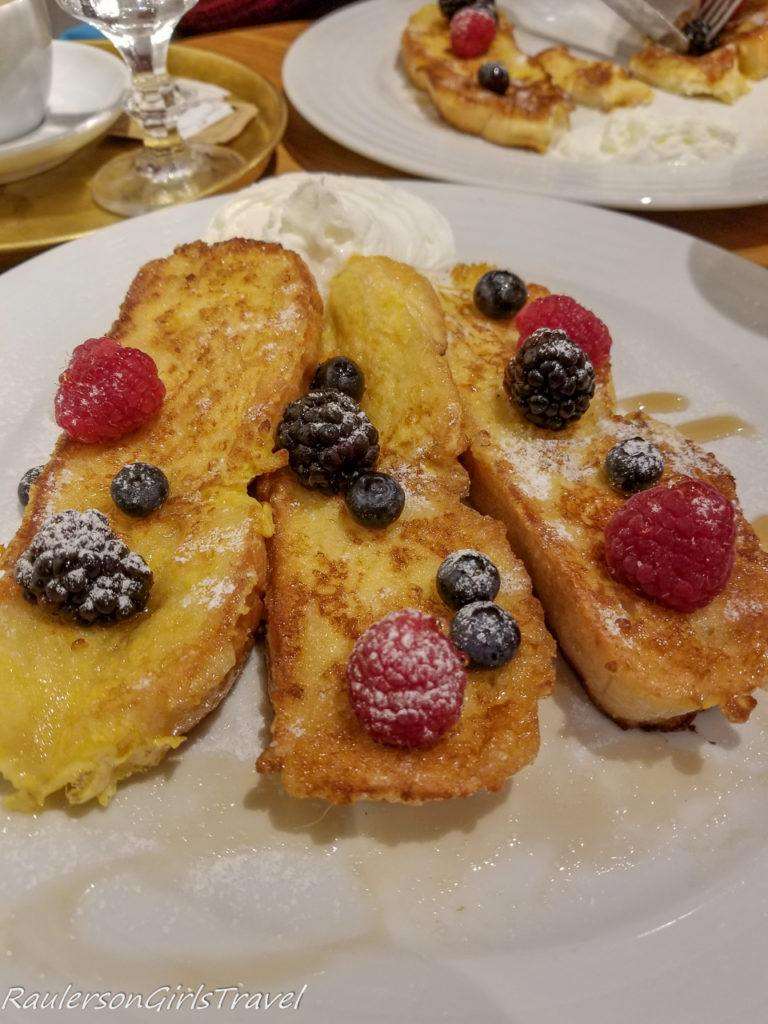 Sweet Brioche French Toast with Forest Fruit at Mondieu Laboratoire