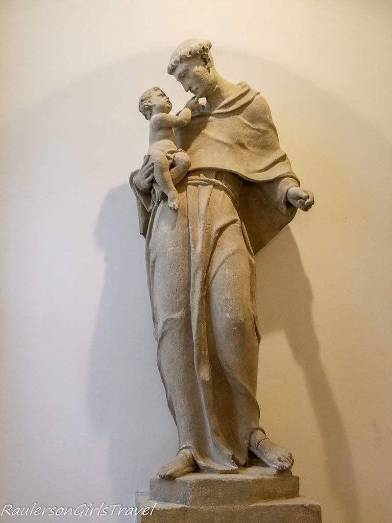 Statue of Man and Child