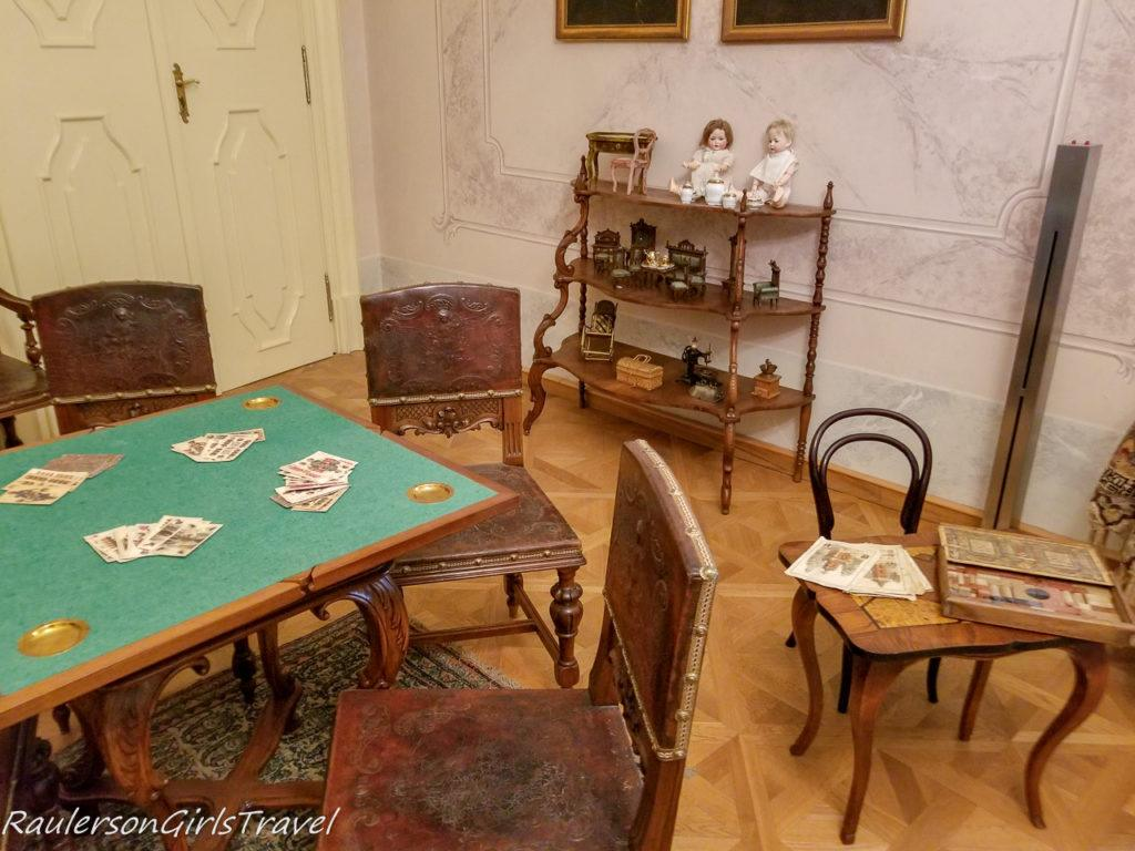 Game room in Period Rooms Museum