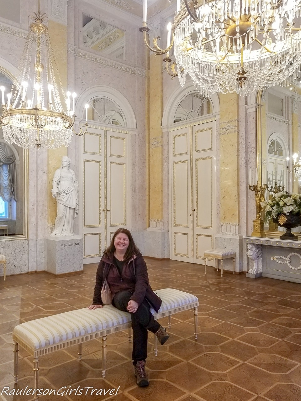 Heather in Habsburg state rooms at Albertina Museum