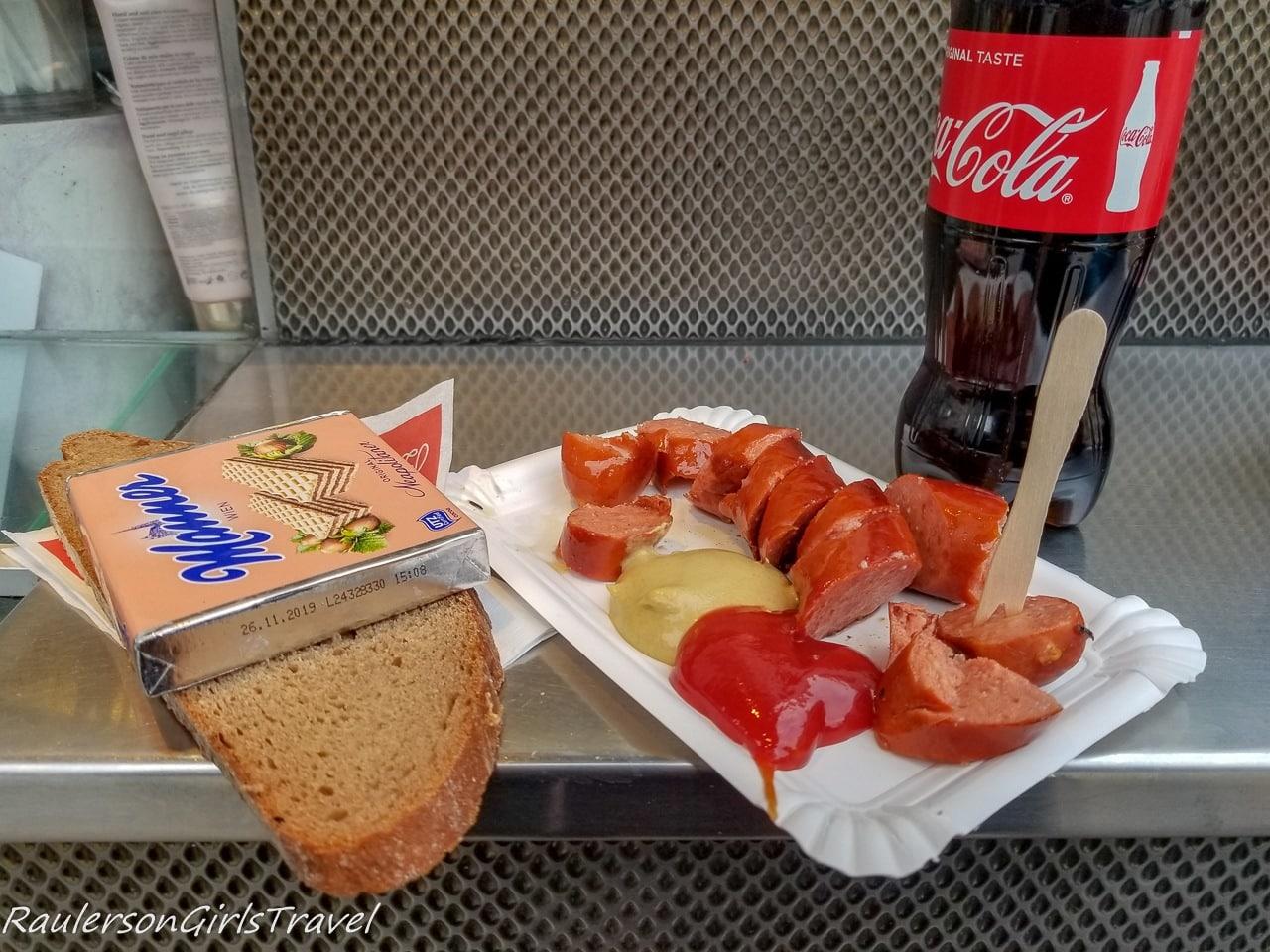 Sausage and a Coke at Bitzinger