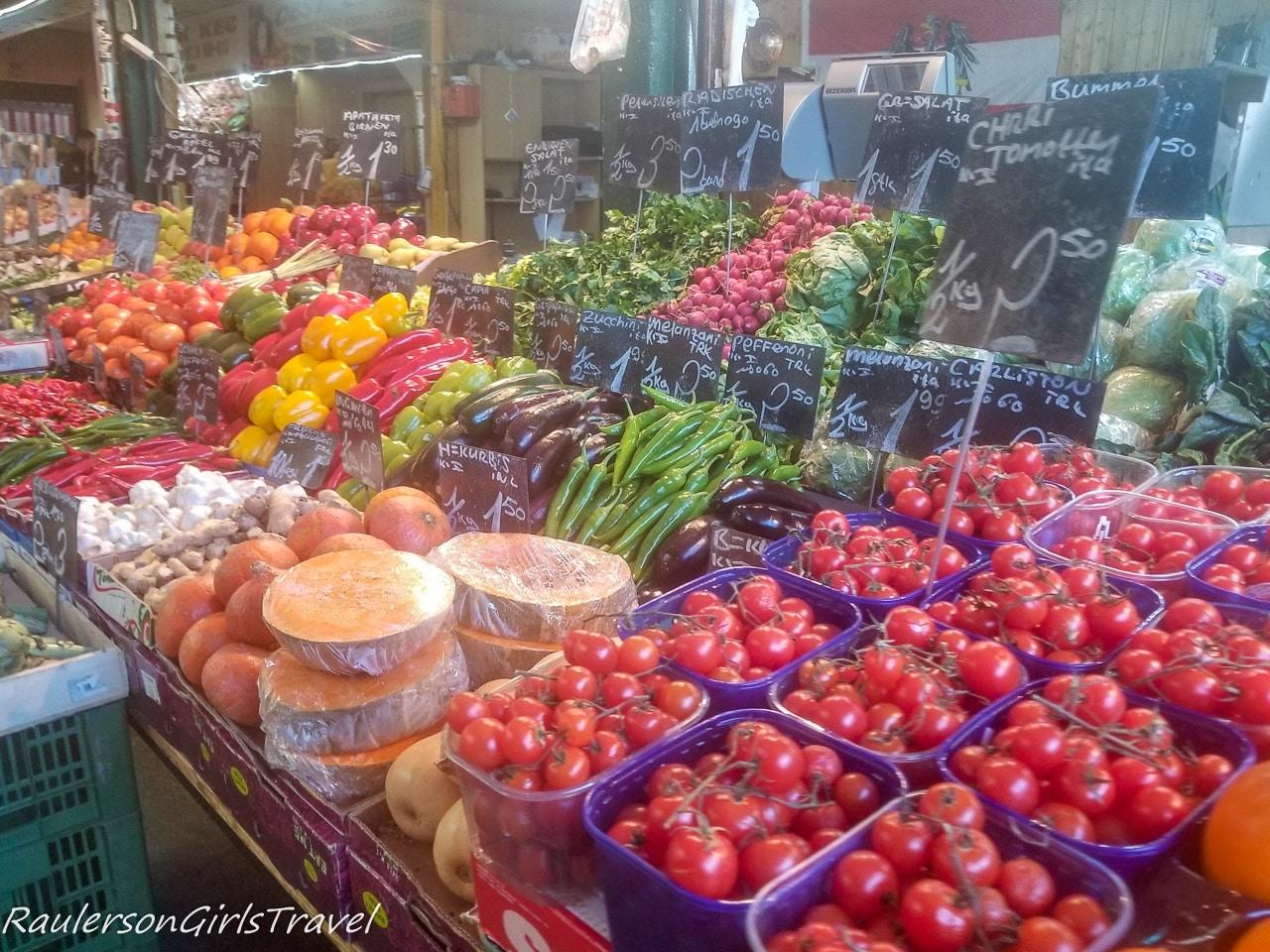 Vegetables at Naschmarkt