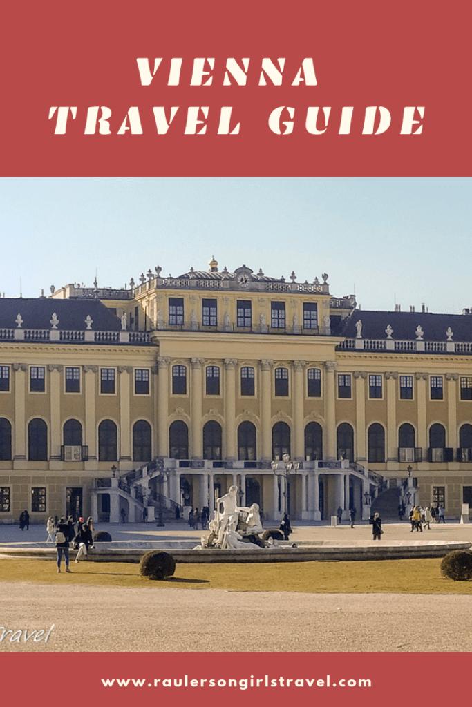 Vienna Travel Guide Pinterest Pin