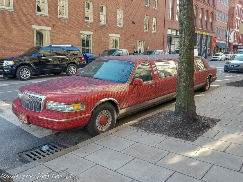 Stretch Pink Cadillac Limo