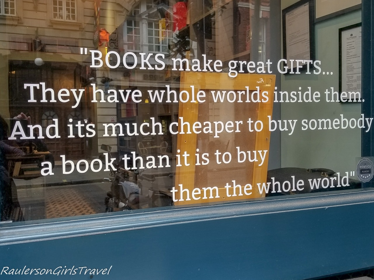 Booksellers Alley book quote