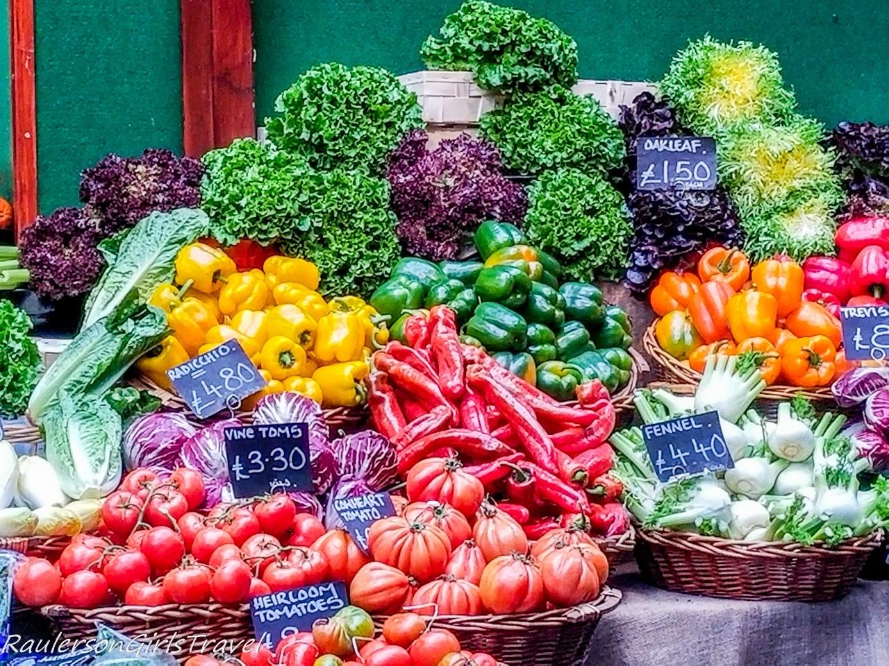 Colorful Vegetables at Borough Market