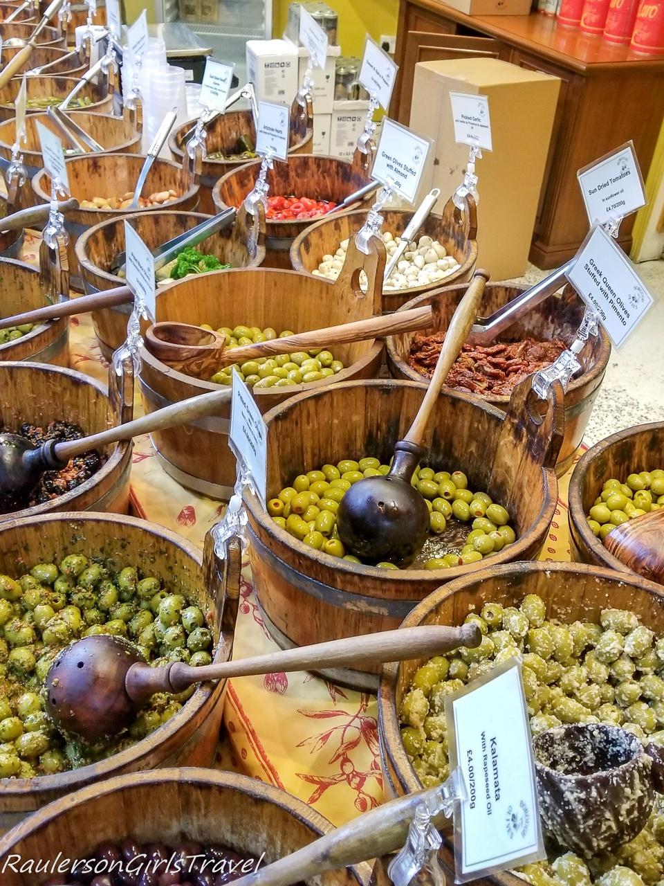 Olives at Borough Market