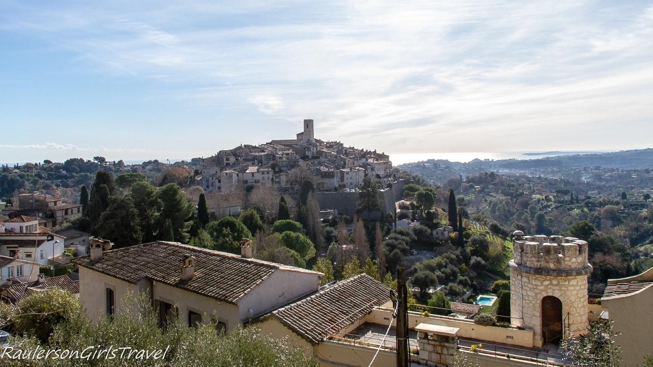 View of Saint-Paul de Vence from Chemin de Sainte-Claire