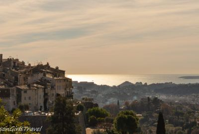 Panoramic view of the Mediterranean Sea and Provence