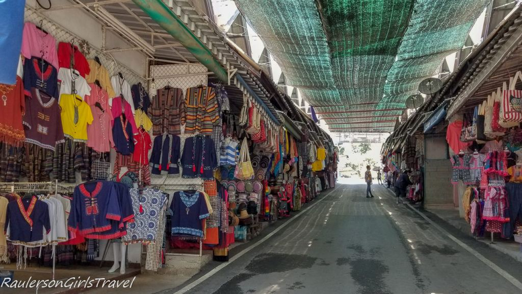 Shopping in the Village outside Bhubing Palace