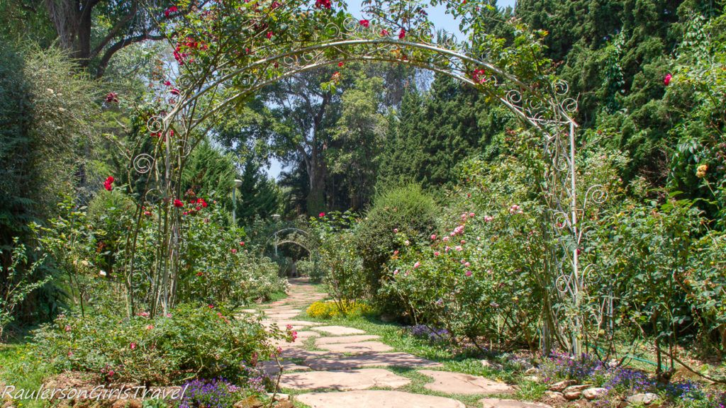 Rose Trellis Pathway at Bhubing Palace