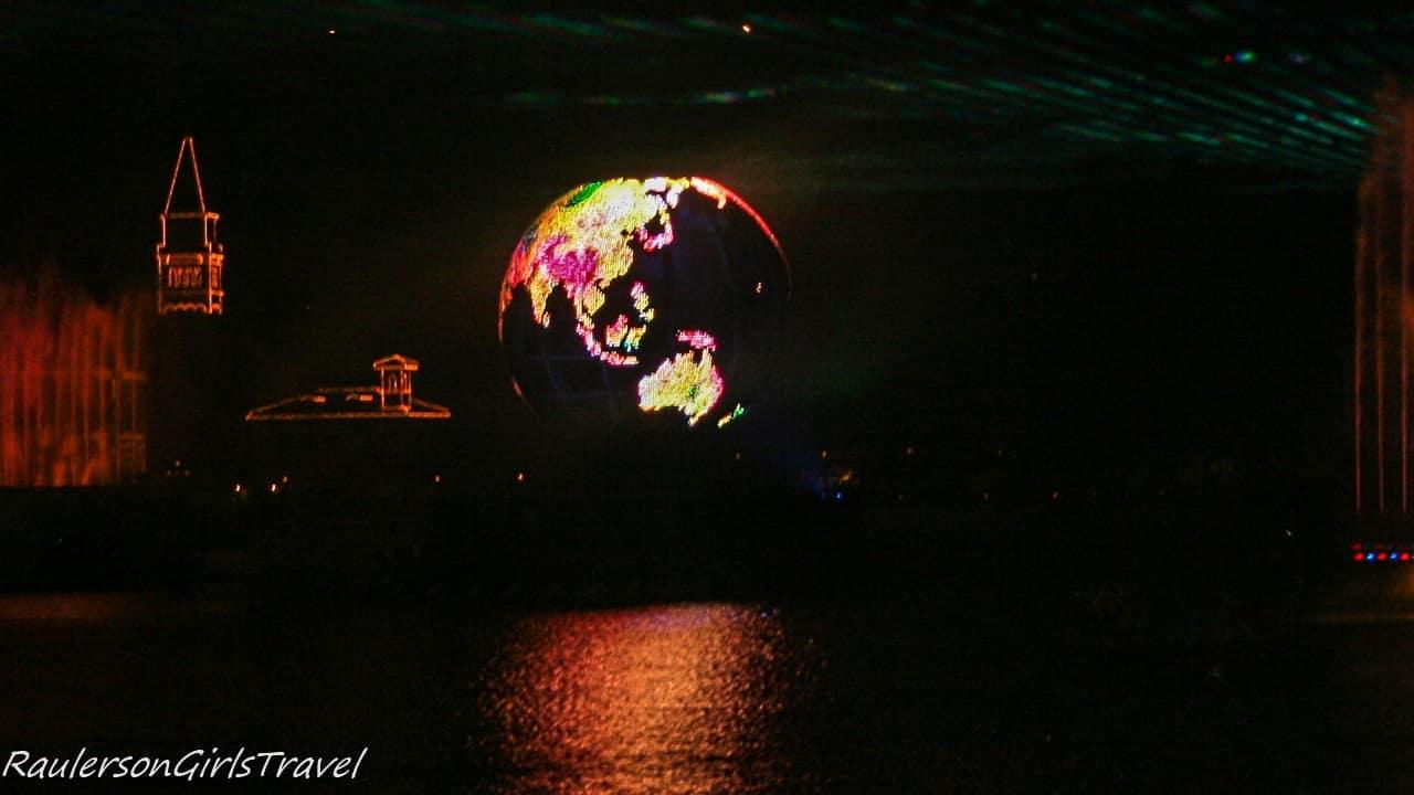 Disney Illuminations Earth Globe - spherical video display system