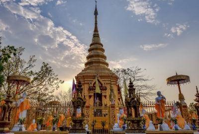 Sunset at Wat Phra That Doi Wao