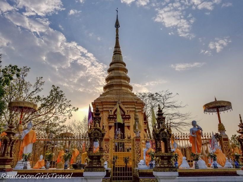 Sunset at Wat Phra That Doi Wao
