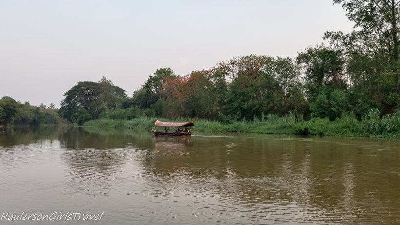 Boat cruising on the Mae Ping River