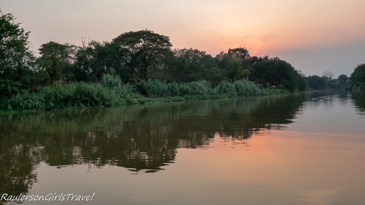 Sunset reflecting on the Mae Ping River
