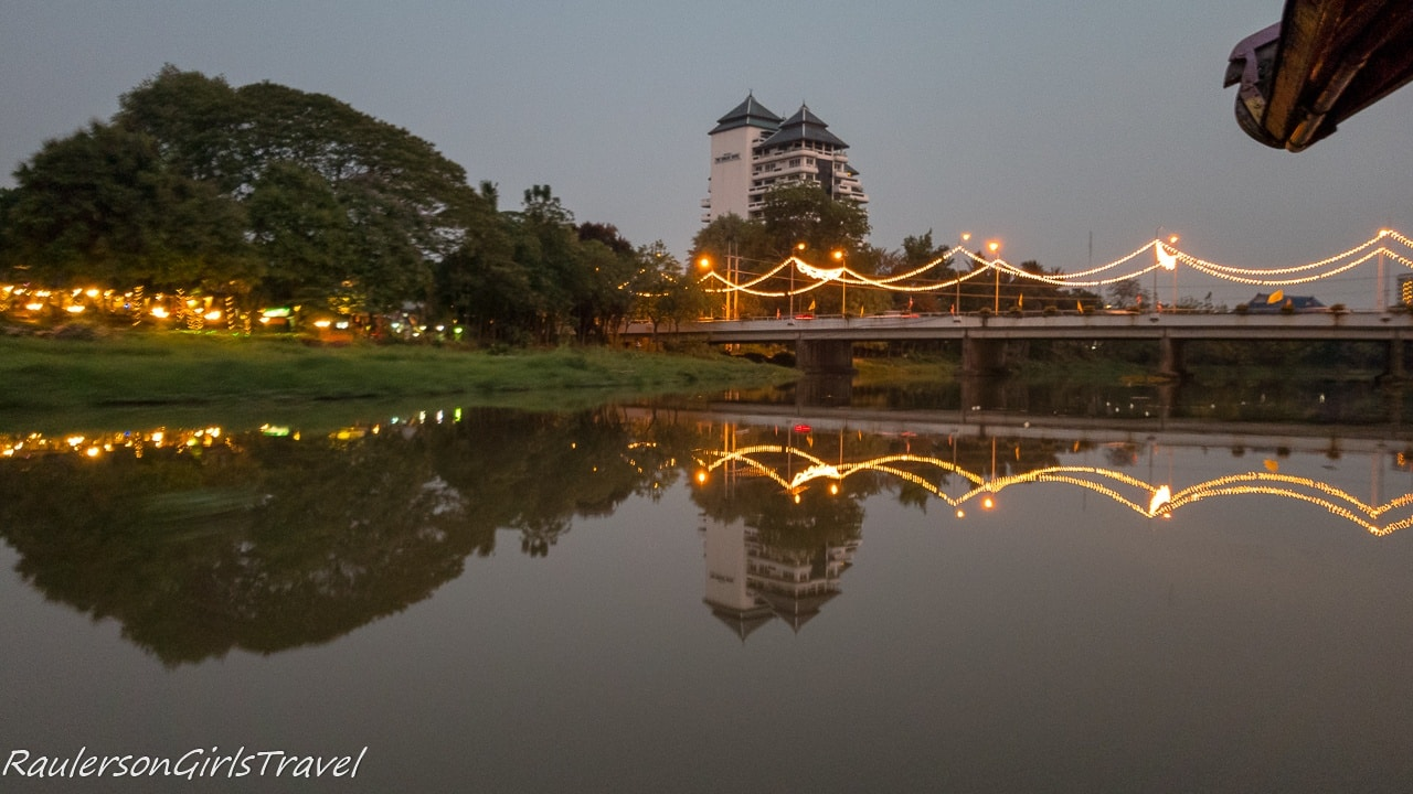 Bridge reflected on the Mae Ping River