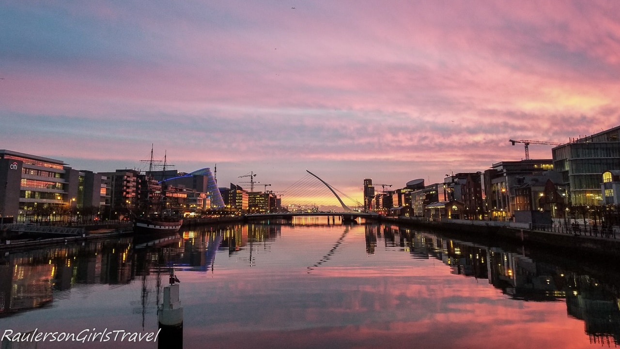 Sunset with Samuel Beckett Bridge