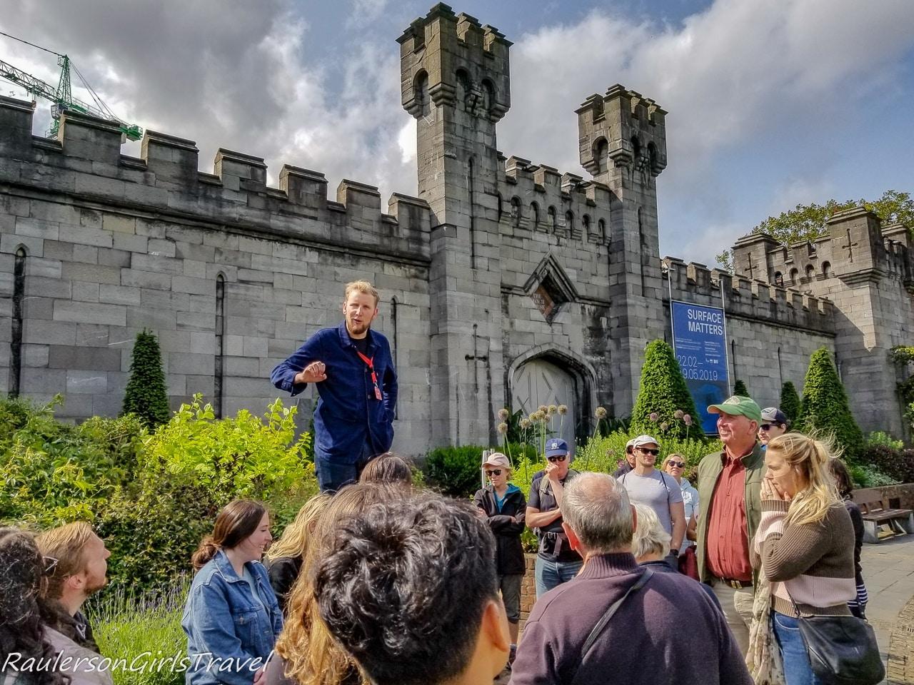 Sandeman's Tour guide on Free Walking Tour of Dublin