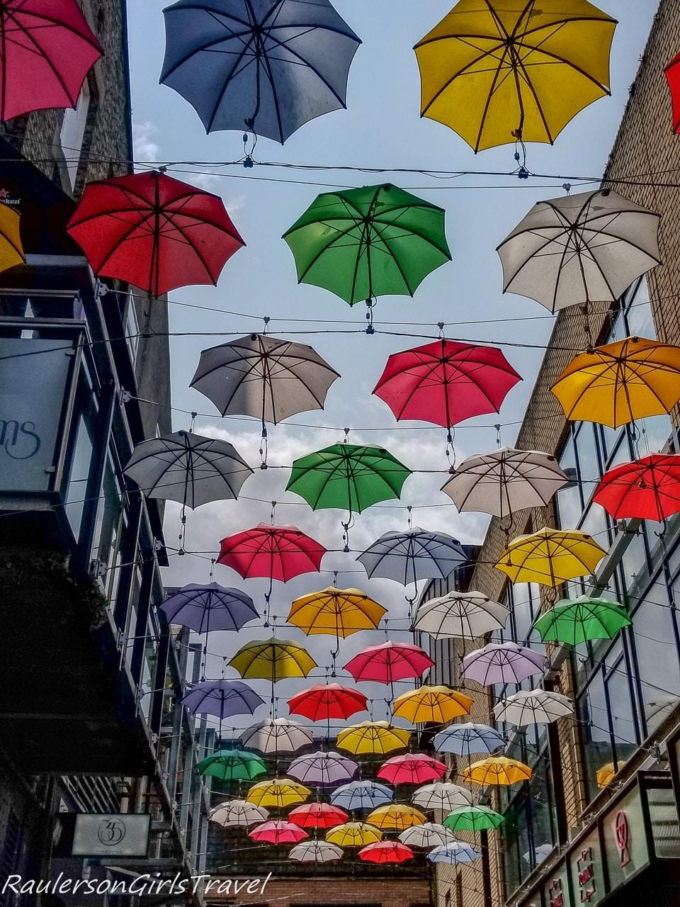 Umbrellas on St. Anne's Street