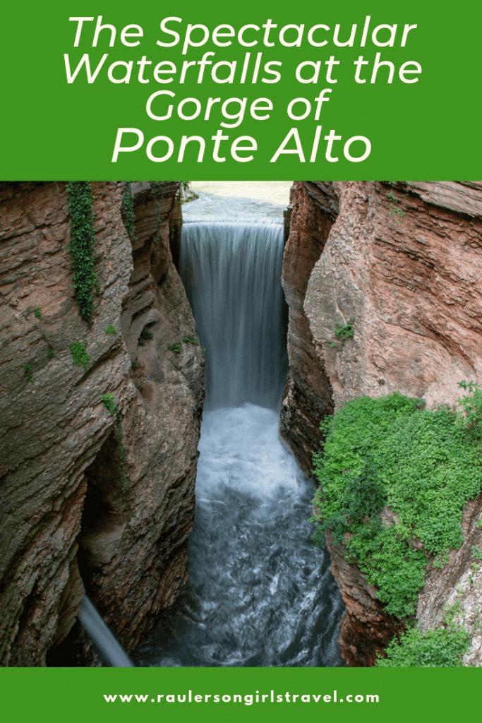 Gorge of Ponte Alto Pinterest Pin